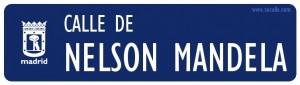 Calle de Nelson Mandela en Madrid