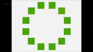 ¿Puedes ver el verde que es diferente?
